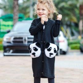 """Panda cardigan"" Kids"