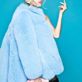 """Blue fox"" Fur coat"