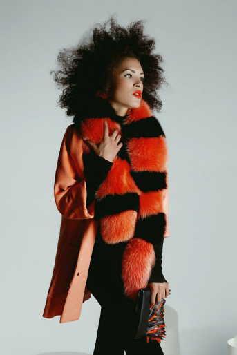 """Orange & Black"" Scarf"