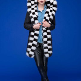 """Chess"" Jacket with fur lining"