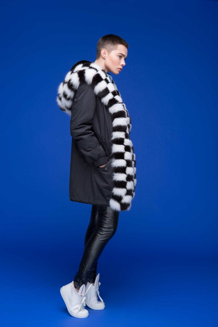 """""""Chess"""" Jacket with fur lining"""