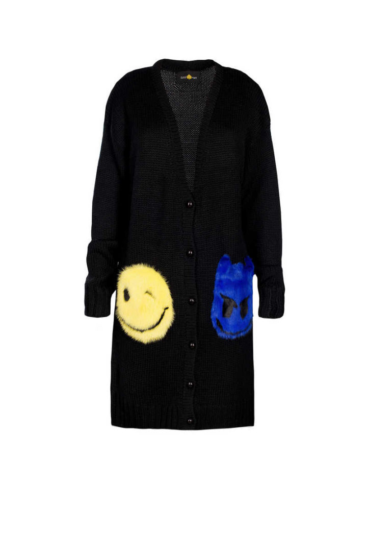 """TRICKY SMILE"" SHORT CARDIGAN"