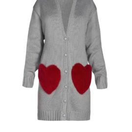 """RED HEARTS"" SHORT CARDIGAN"