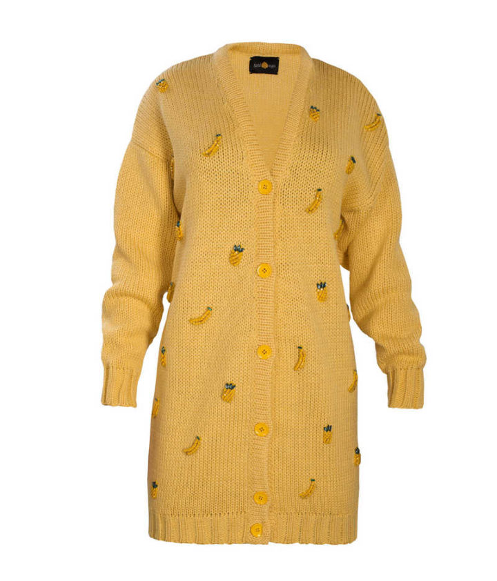 """YELLOW TROPIC"" CARDIGAN"
