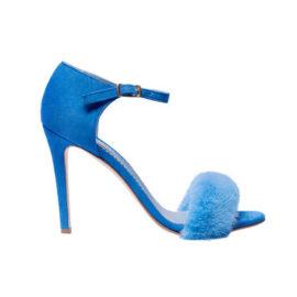 blue mink sandals