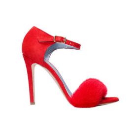red mink sandals