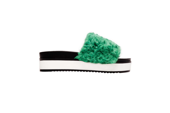 """GREEN CURLS"" SHOES"