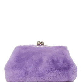 large blood honey purple rabbit fur clutch