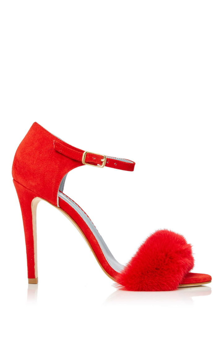 """RED MINK SANDALS"" SHOES"