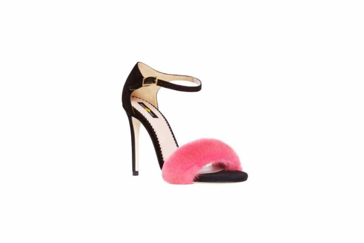 """LIGHT PINK MINK SANDALS"" SHOES"