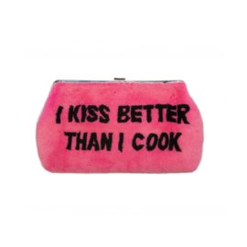 "Bag ""I KISS BETTER THAN I COOK"" PINK"
