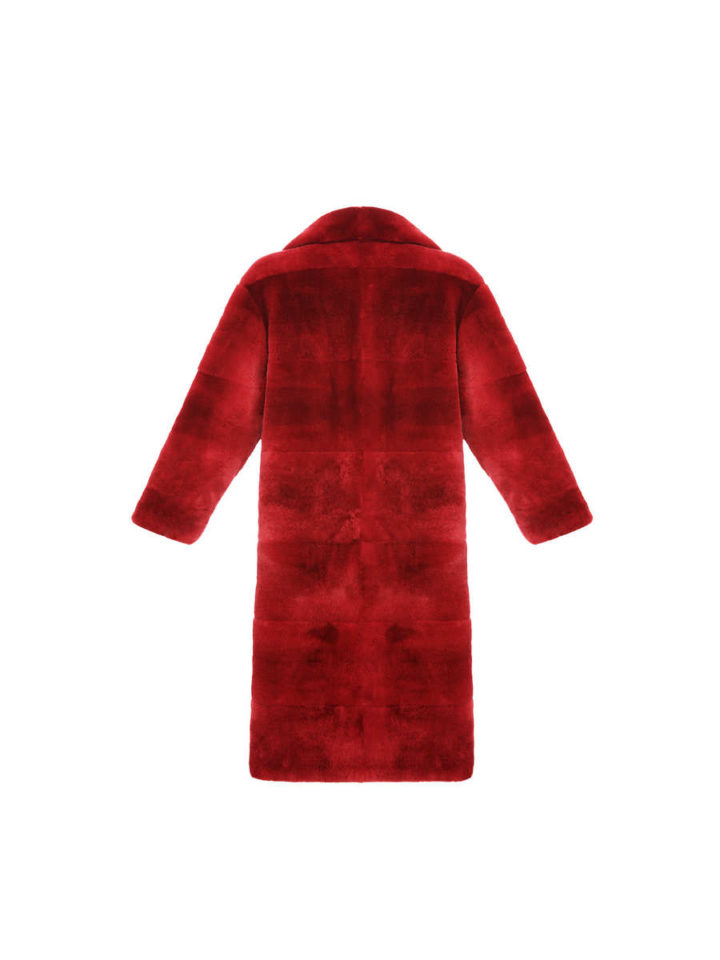 REX FUR LONG COAT