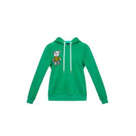 GREEN HOODIE WITH BLOOD&HONEY BEAR