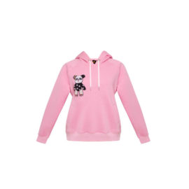 PINK HOODIE WITH BLOOD&HONEY BEAR