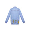Denim jacket with beaded Bear with hood