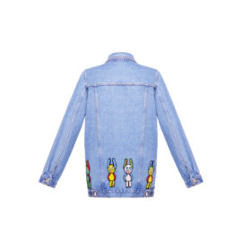 Denim jacket with aliens Blood and Honey