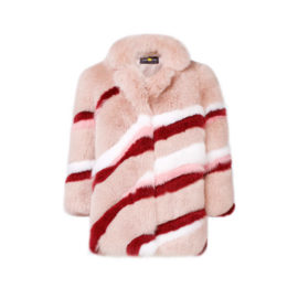 MULTICOLOR ARCTIC FOX FUR COAT
