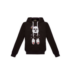 BLACK HOODIE WITH BLOOD&HONEY BEAR