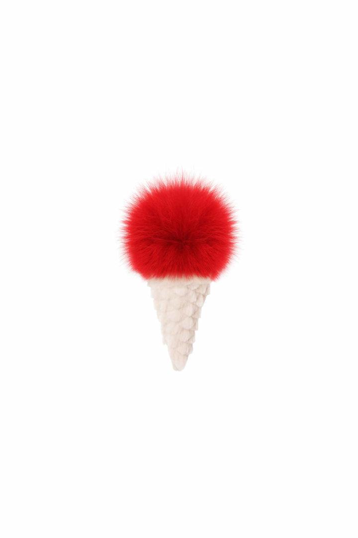Red ice cream trinket