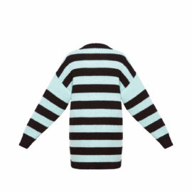 Sweater with mint stripes