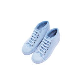 Blue mouton sneakers