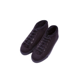 Blood and Honey Black mouton sneakers