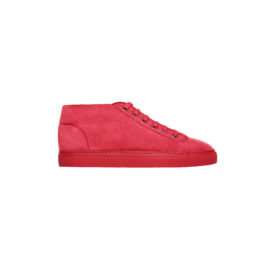 Burgundy mouton sneakers