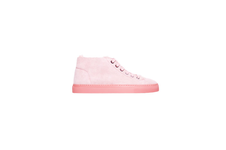 Light pink mouton sneakers