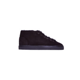 Black mouton sneakers