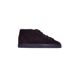 Black mouton sneakers