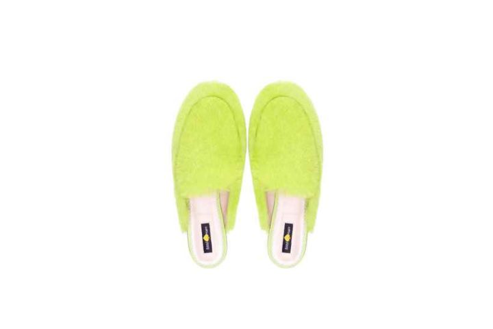 Lime green mules
