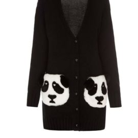 """Pandas"" short black cardigan"