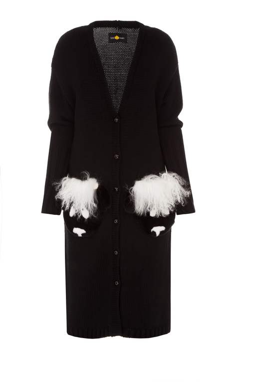 SHEEPS BLACK CARDIGAN