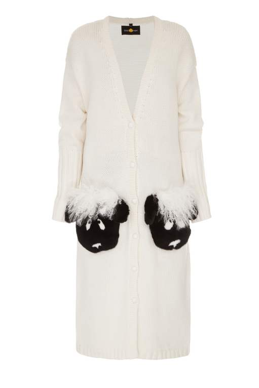 SHEEPS WHITE CARDIGAN