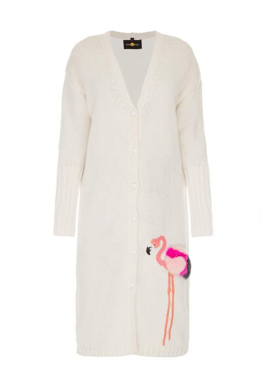 FLAMINGO WHITE CARDIGAN