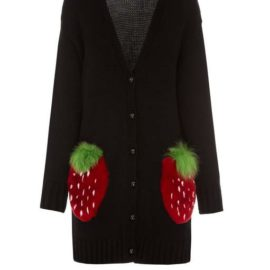 Strawberry short black cardigan