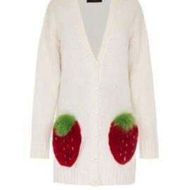 Strawberry short white cardigan