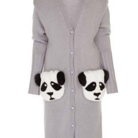 """""""Pandas"""" grey cardigan"""
