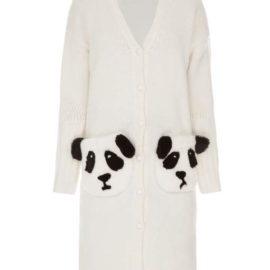 """""""Pandas"""" white cardigan"""