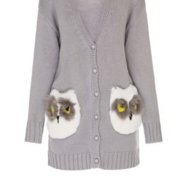 """Owls"" short cardigan"