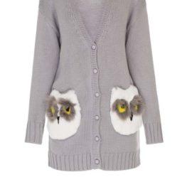 """Owls"" short cardigan"