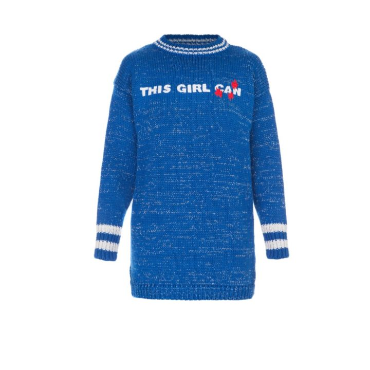 """""""This girl can"""" sweater"""