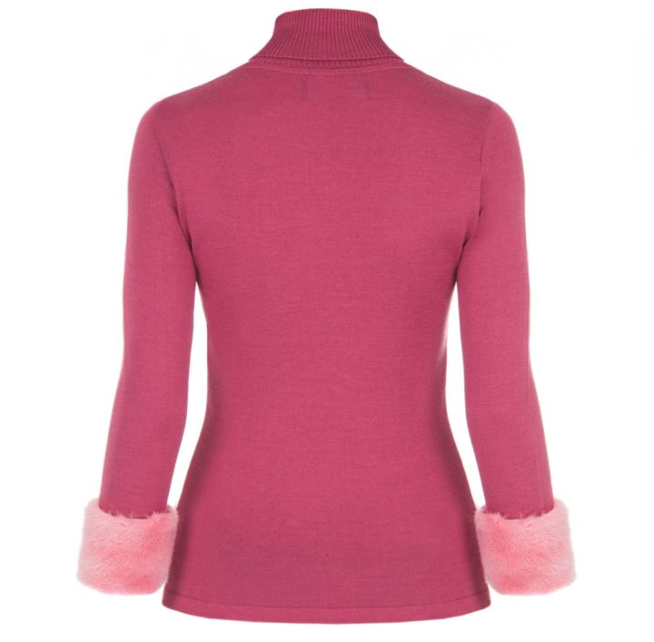 """Rasberry pink"" sweater"