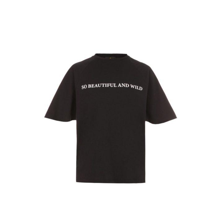 "Black T-shirt ""So beautiful and wild"""