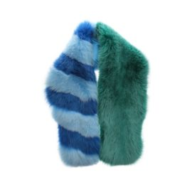 Artic fox fur stripped scarf