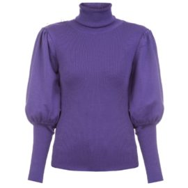 Volume sleeves violet sweater