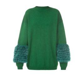 Emerald artic fox sweater