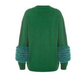 Emerald artic fox sweater