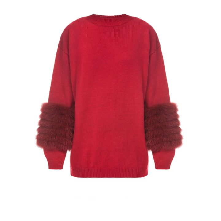 Red artic fox sweater