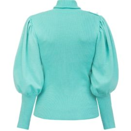 Volume sleeves mint sweater